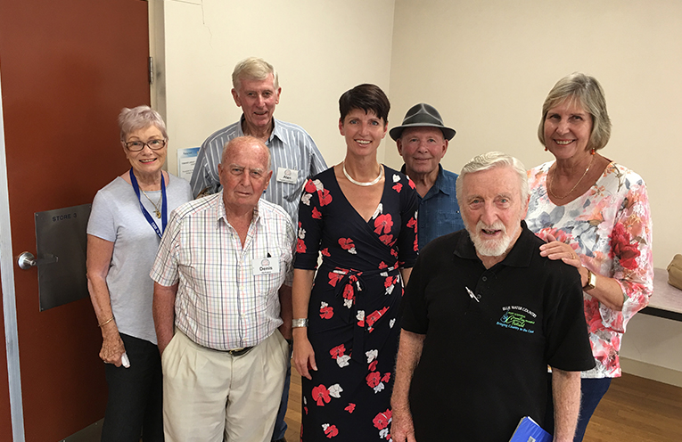 Kate Washington MP with members of Port Stephens University of the Third Age (U3A)