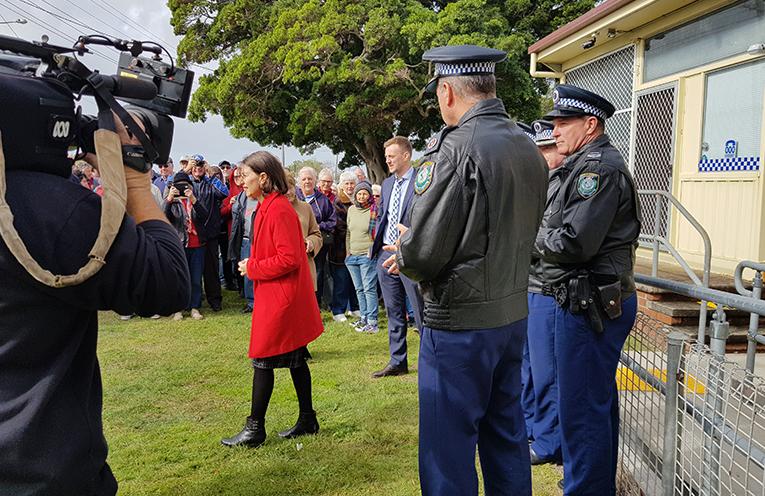 PREMIER'S JUNE VISIT: Tea Gardens Police Station.