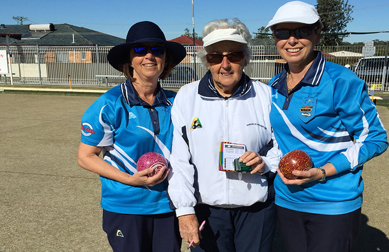 Merridie Rees, Fay Barclay and Christine Davies.