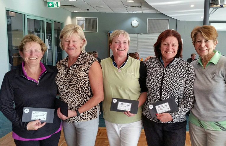 Winners of the Ladies Open Day Golf with Sponsor Shirley Pearson
