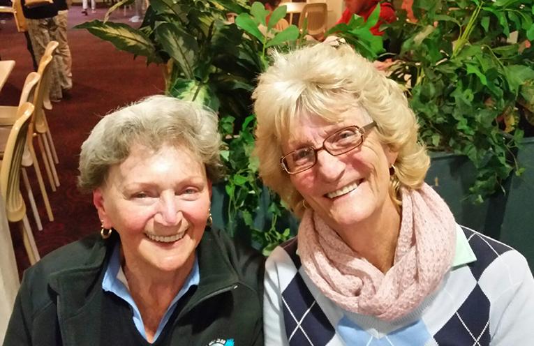 July weekend Monthly Medal Winners. Carol Maher and Carol Wiggins.