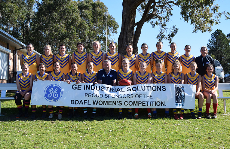 The Hunter representative team, consisting of players from various clubs, including Nelson Bay Marlins and Medowie's Port Stephens Power.