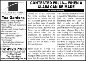 ADVERTISER - Mullane & Lindsay