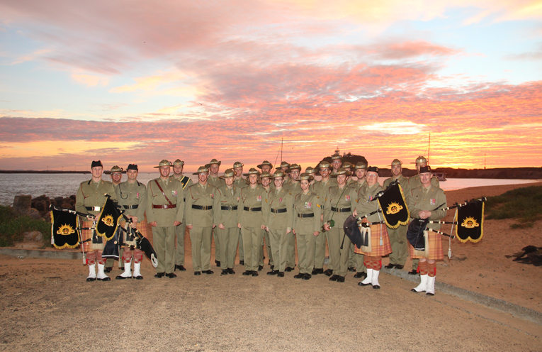 The Australian Army Band Newcastle after a recent Anzac Day Dawn Service.