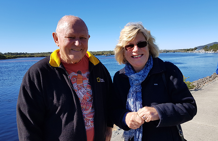 TEA GARDENS RIVERFRONT: Gordon Grainger and Patricia Garrard.
