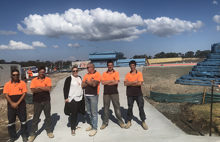 Medowie Business, Jason Becker Concreting completed the driveway of the Build for a Cure house.