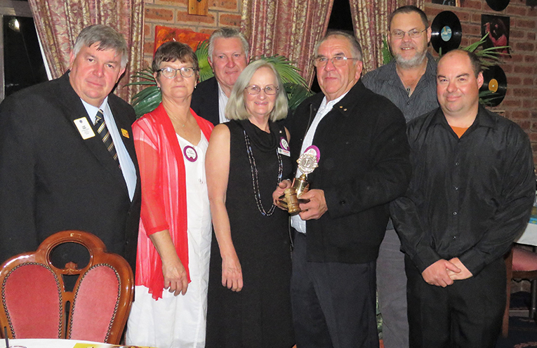 District Governor Glenn Byrnes with Bulahdelah Lions new officers.