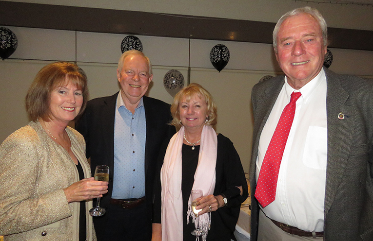 Lyn and Art Brown with Kerrie Gooch and Lesley Brown at the Show Society Dinner Dance.