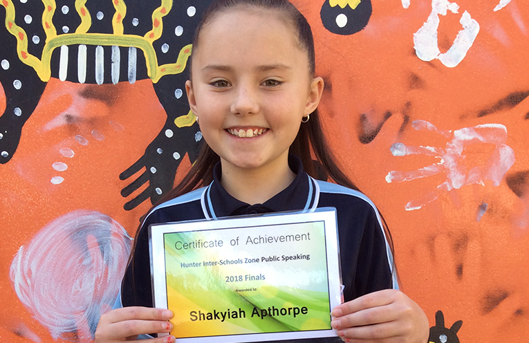 Shakyia Apthorpe from Raymond Terrace Public School.