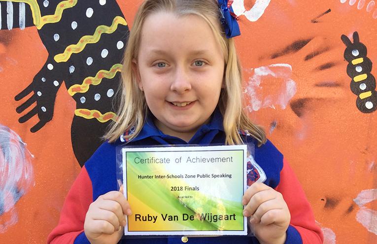 Ruby van de Wijgaart from Wirreanda Public School.