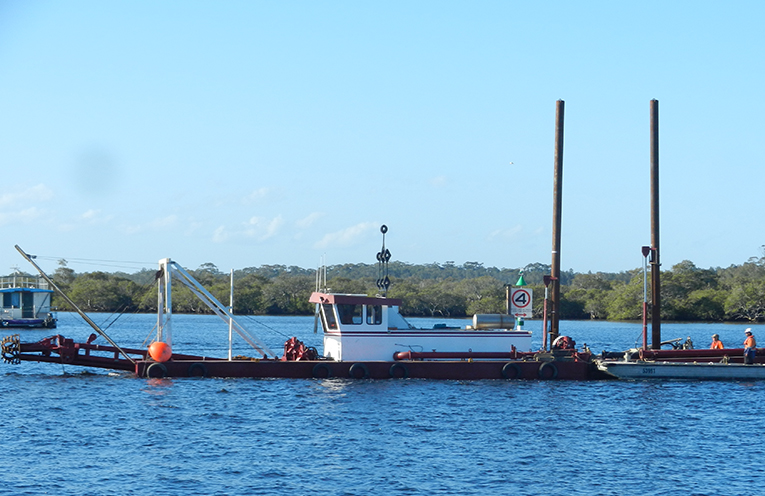 MYALL RIVER; Dredging begins along the 'Gut'.
