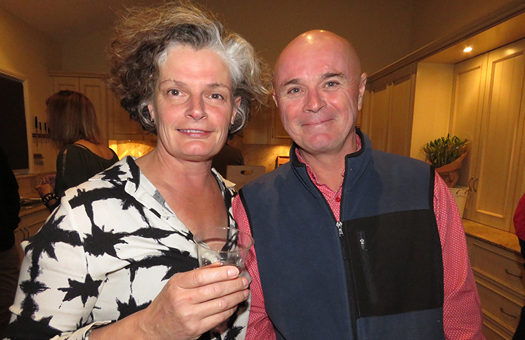 Robyn Piper and Steve Aitken from Great Lakes Paddock Winery.