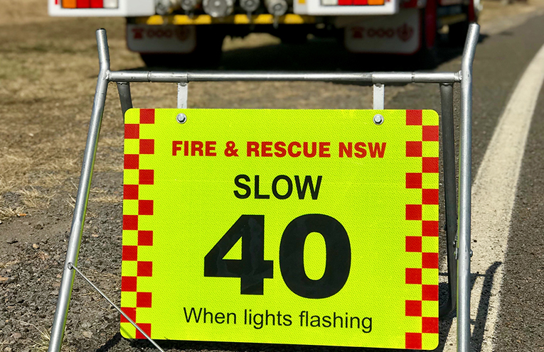 New rule in effect from 1 September for passing Emergency Vehicles on the job.