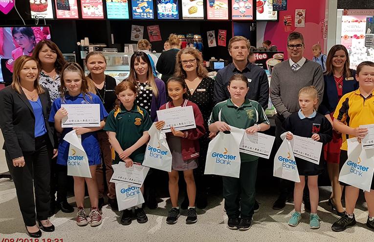 This week's winners, awarded by Tara Ball from Raymond Terrace Bowling Club.