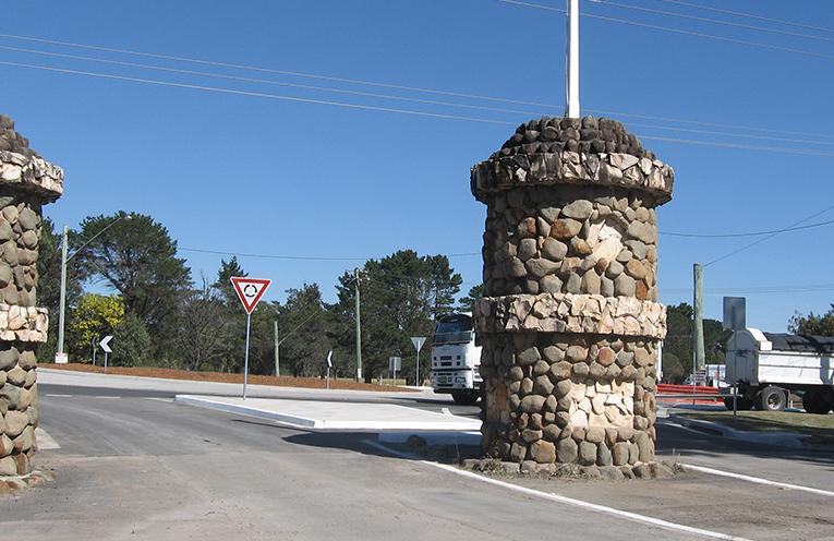 The newly opened roundabout st Tanilba Bay.