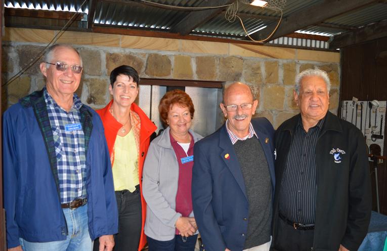 At the ribbon cutting: Norm Brown, Kate Washington MP, Laraine Brown, Ken Barlow (President) and Uncle John Ridgeway.