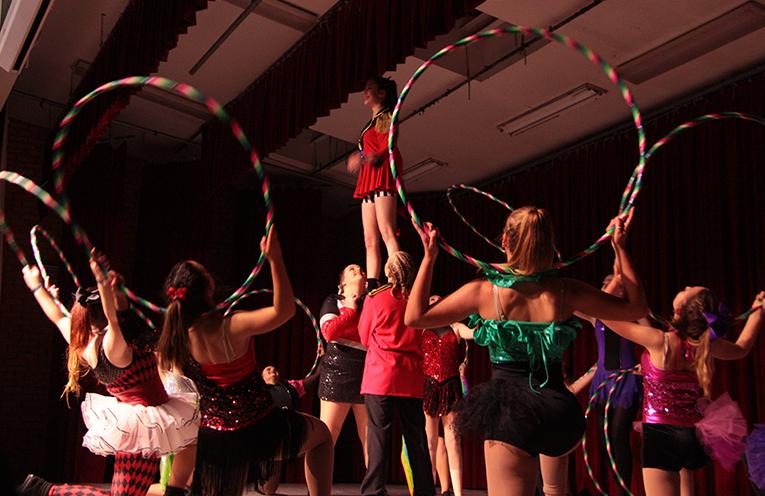 Acrobatics, cheer and rhythmic gymnastics were included in performances.
