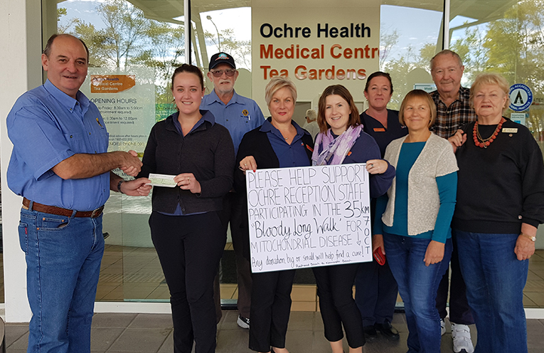 OCHRE HEALTH CENTRE: Lions Club Donation to 'Mito' Research.