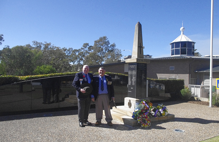 Vietnam Veterans and RSL Branch representatives Tom Lupton and Russell Durrant. Photo by Marian Sampson.