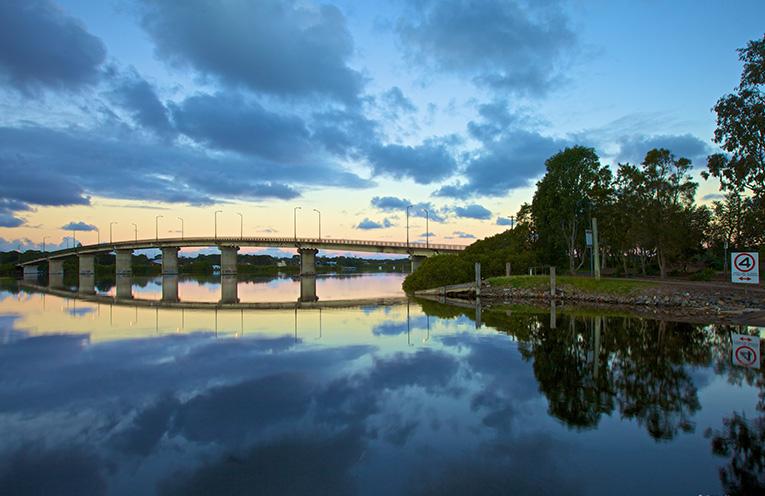 The Singing Bridge at Tea Gardens. Photo by Simon Wilson