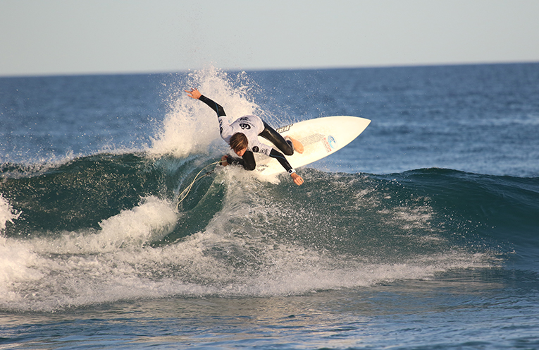 Mike Clayton-Brown, runner-up in the Under 16 Boys All-Stars Surfing event at Coffs Harbour this week. Photo courtesy of Surfing NSW.