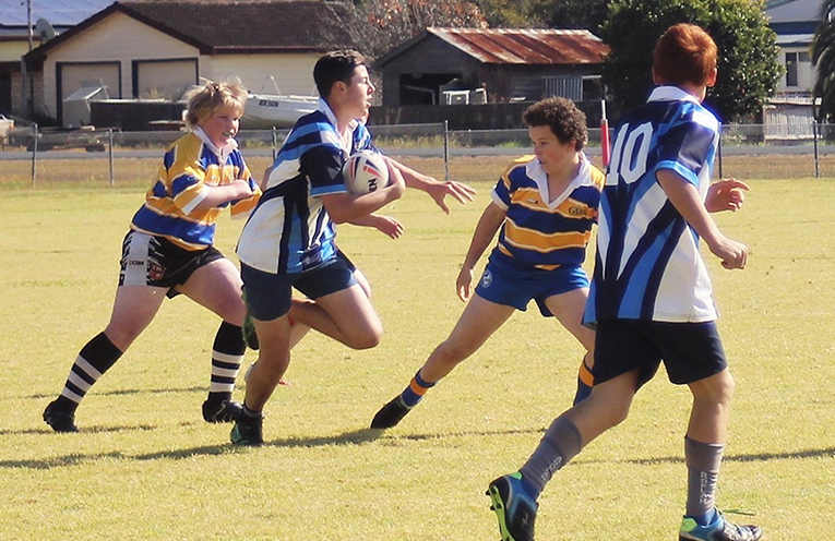 BCS junior rugby league team dominated on the field.