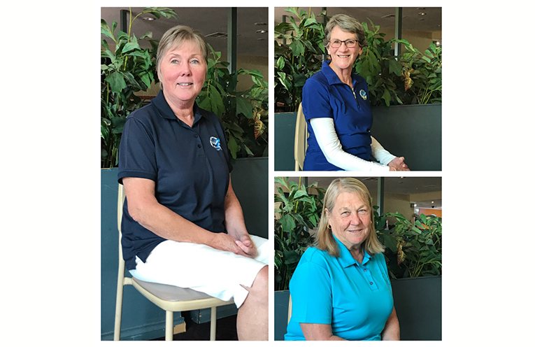 Winners of the Tuesday Ladies July Monthly Medal. A. Grade. Evelyn Potts, B. Grade. Robyn Richardson, C. Grade. Susan Fordy.
