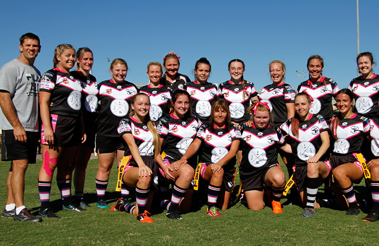 Raymond Terrace Ravens are ready for their 'Ladies in League' round.