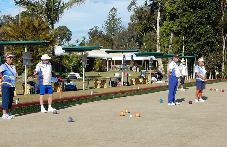 Lon Richards surveying a winning hand with the skips yet to bowl. He retained two of them and lost by one shot.