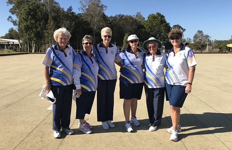 Finalists Club Championship Triples Bette Saillard, Robyn Webster, Loretta Baker, Kayelene Pearson, Maynie Roberts and Robyn Beaumont.