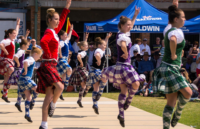 The Highland dancers. Images supplied by Clans on the Coast.