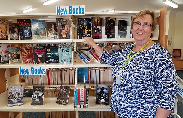 TEA GARDENS LIBRARIAN: Carol Johnson.