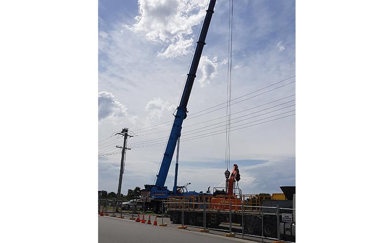 TEA GARDENS WATERFRONT: Construction begins on new pontoon opposite the Ice Cream Shack.
