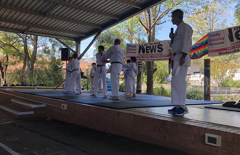 Ko-ryu Uchinadi Karate demonstrating at the Fair.