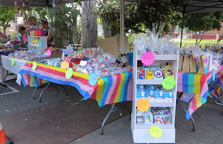 The lolly stall.