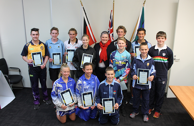 The young sportsmen and women who have been awarded grants by Meryl Swanson MP to further their path in their chosen sports.