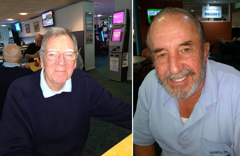Front nine winner James Slater. (left) Back nine winner Gary Wills. (right)