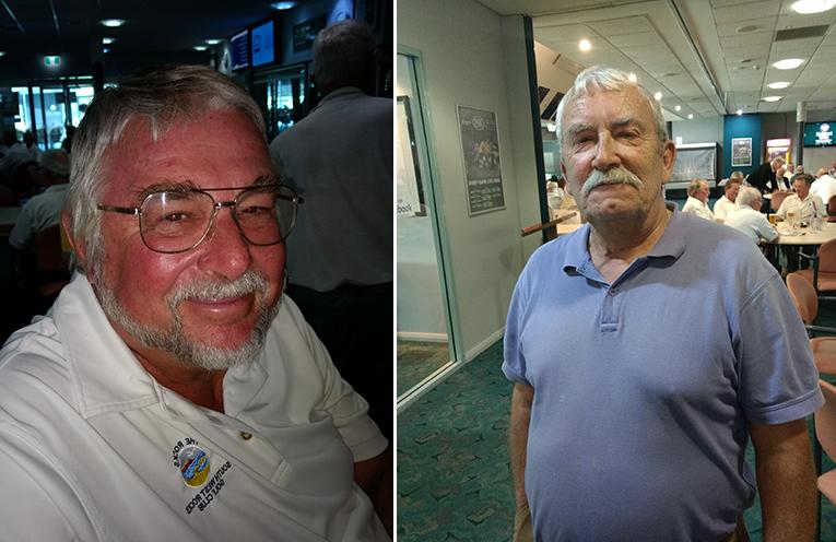 A Grade winner Ian Richardson.  (left) C Grade winner Frank Murphy.  (right)