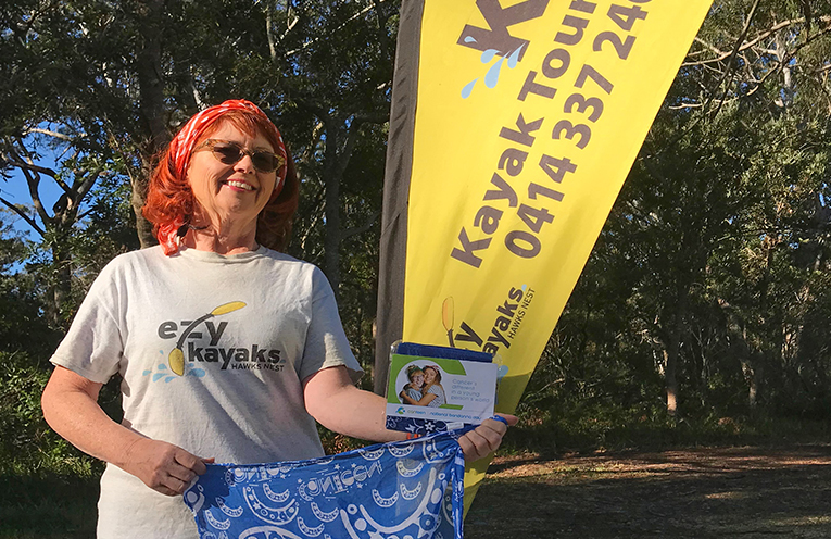 CANTEEN'S BANDANNA DAY:: Cathriona from Ezy Kayaks.