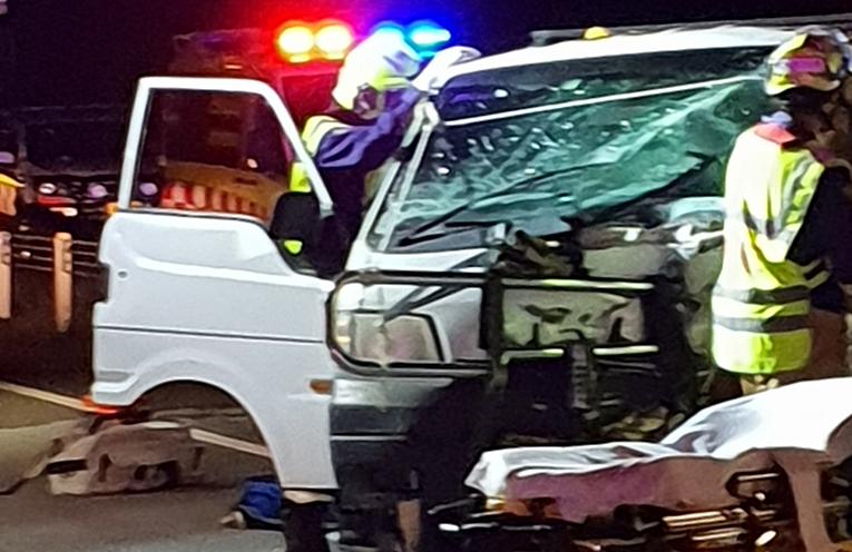 TWO CAR CRASH: Pacific Highway, Tea Gardens.