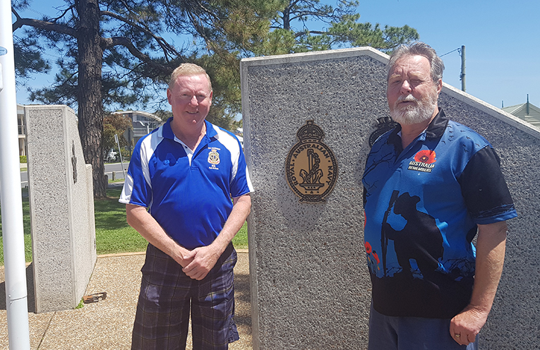 REMEMBRANCE DAY ORGANISERS: Scott Beaumont and Rob Young.