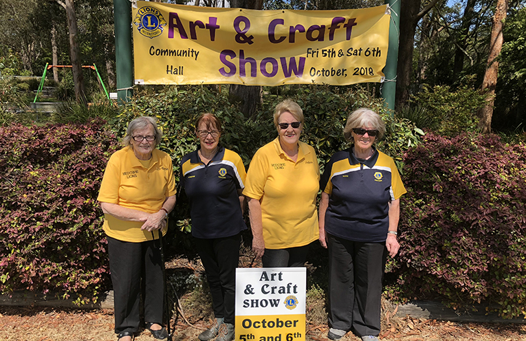 Ann-Marie, Helen and Adrienne from the Medowie Lions Club Art and Craft Show.