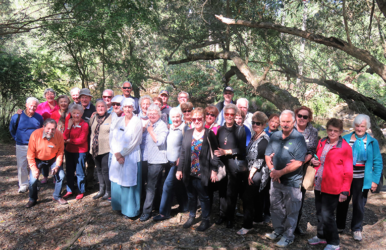 Members of Port Stephens Probus Club enjoying their Mystery Bus Tour to Riverwood Downs.