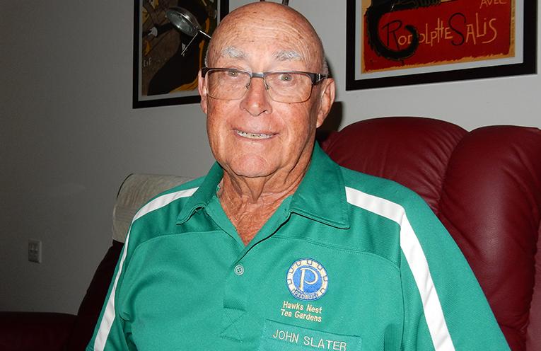 HAWKS NEST/TEA GARDENS PROBUS CLUB PRESIDENT: John Slater.