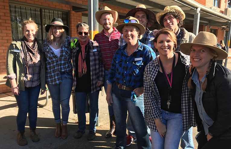 The 'dress like a farmer' days were a great success with staff and students.