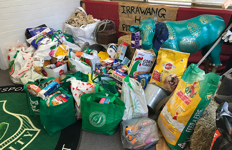 Just a selection of the non-perishable products collected for the farmers.