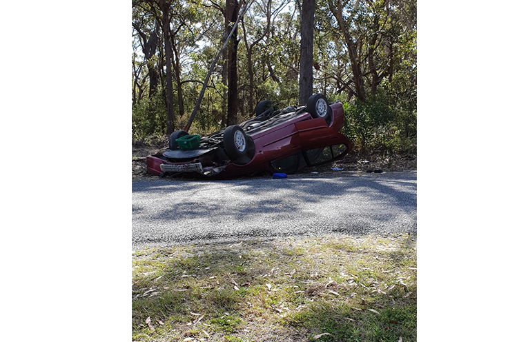 SPEED AND ALCOHOL BLAMED: Mungo Brush Road.