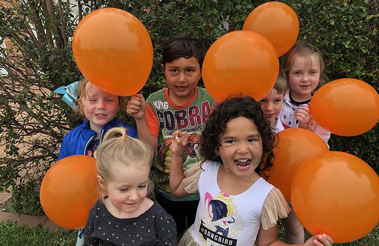 Medowie Children are ready to celebrate.