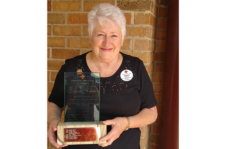 VOLUNTEER REWARD: Jenny Kelly.