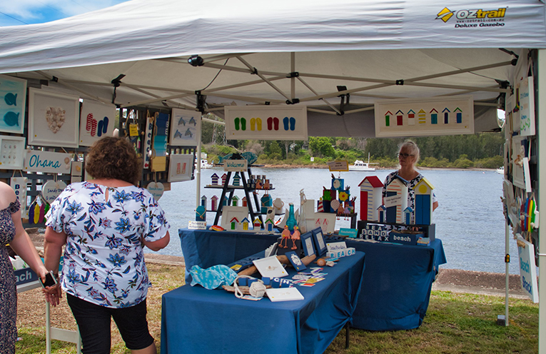The festival had a variety of stalls full of handmade goods by local businesses. Photo by Jack DRAKE